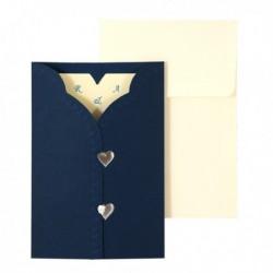 Invitatie crem cu suport albastru 01.25.017