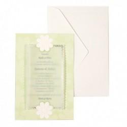 Invitatie verde cu margarete 01.25.003