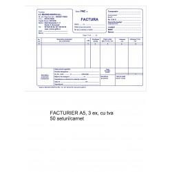 Facturier A5 cu TVA