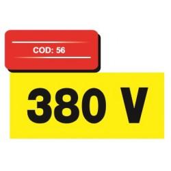 Autocolant vetical 380 v