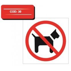 Autocolant acces interzis cainilor