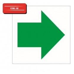 Autocolant indicator dreapta