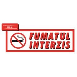 Autocolant fumatul interzis tip 1