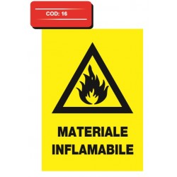 Autocolant materiale inflamabile