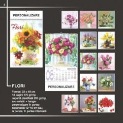 Calendar cu diferite flori