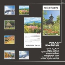 Calendar cu peisaje romanesti inflorite