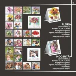 Calendar cu flori si copilarie