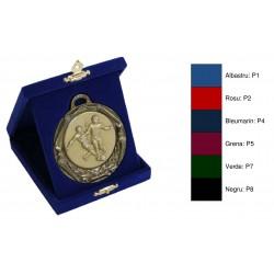 Casete din pluș cu trepied pentru medalii cu ureche