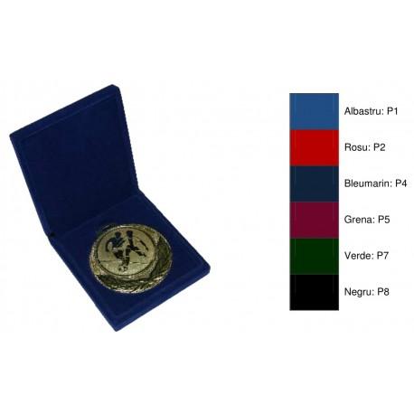 Casete din pluș cu fund fix pentru medalii cu ureche