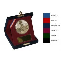 Casete din pluș cu trepied pentru medalii si placute